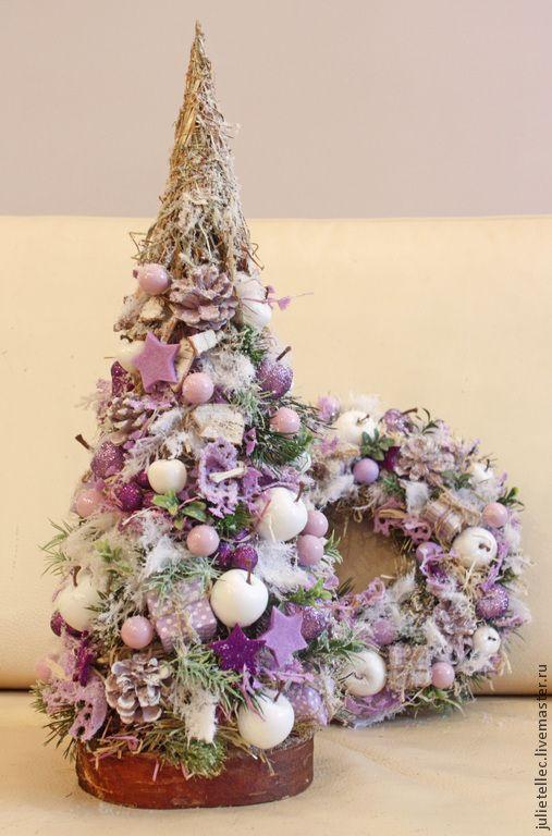 Купить Елочка Сирень - сиреневый, Новый Год, рождество, украшение дома, офиса…