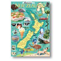 NZ Icons -lg by Contour Creative Studio - prints