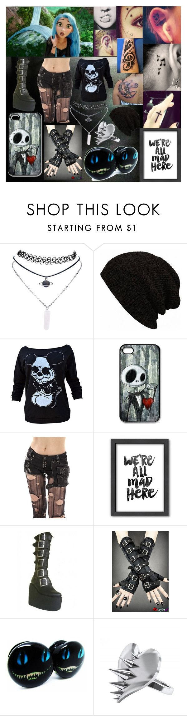 """Rapunzel Gone Bad"" by kittheneko ❤ liked on Polyvore featuring Wet Seal, Disney, Americanflat, CO and LUSASUL"