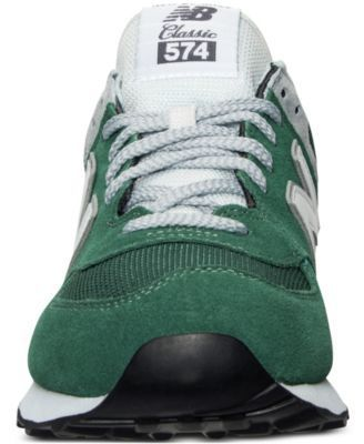 New Balance Men's 574 Varsity Classic Casual Sneakers from Finish Line - GREEN/WHITE 13