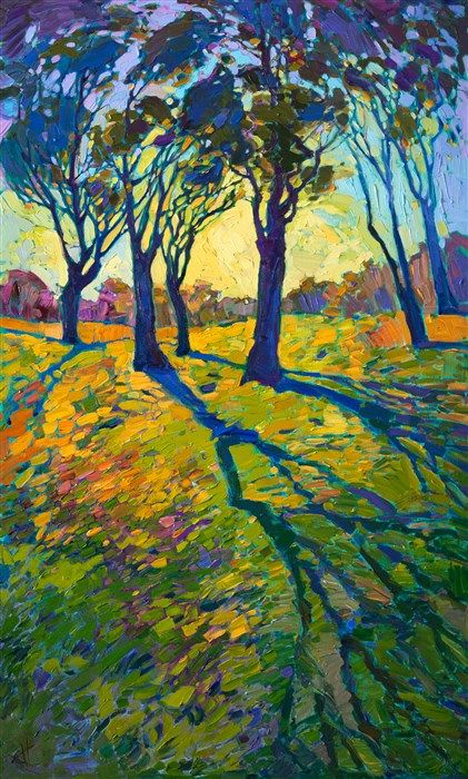 Crystal Light oil painting by famous American artist Erin Hanson.