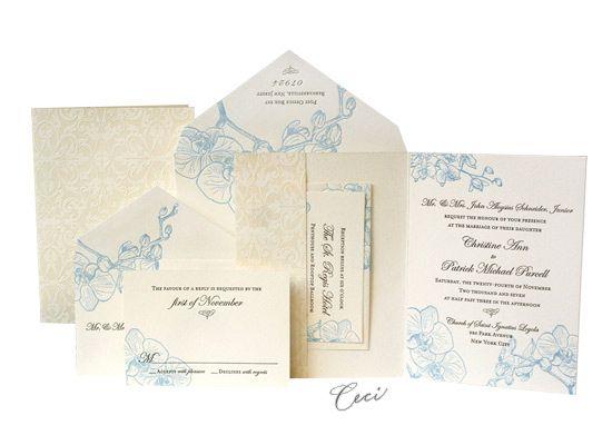 Orchid   Luxury Wedding Invitations   Ceci Ready To Order Collection   Ceci  Wedding   Ceci New York