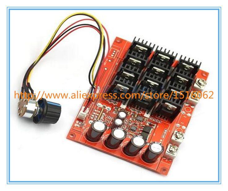 J34  DC 10-50V 60A Motor Speed Control PWM HHO RC Controller 12V 24V 48V 3000W MAX
