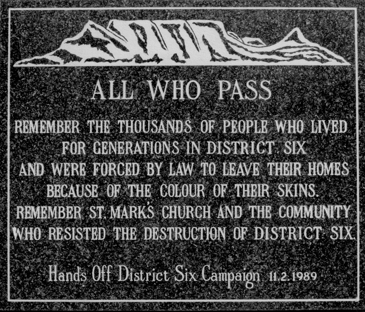 'All Who Pass' - District Six Plaque #CapeTown