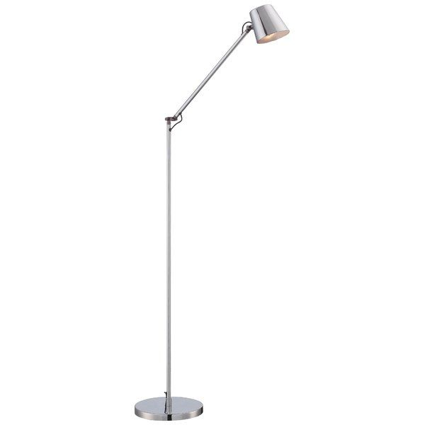 Lending A Light In Any Layout This 50 5 Floor Lamp Features An Adjustable Elbow That Lets You Cast Light Task Floor Lamp Contemporary Floor Lamps Floor Lamp