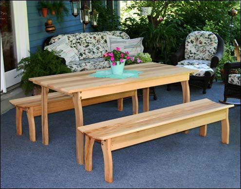 17 Best Ideas About Wooden Picnic Tables On Pinterest