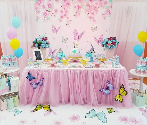 Tea Party Birthday Banner Party Decoration Backdrop