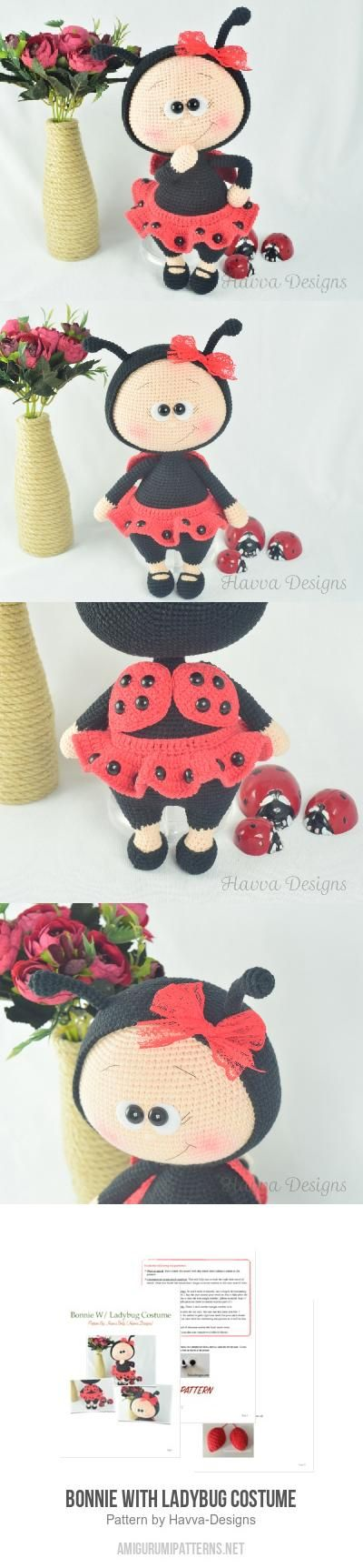 Bonnie With Ladybug Costume amigurumi pattern