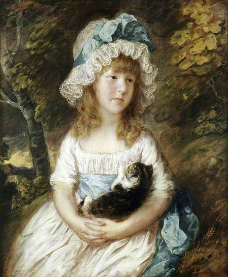 Thomas Gainsborough - Miss Brummell ~ ca. 1781 #cats #art