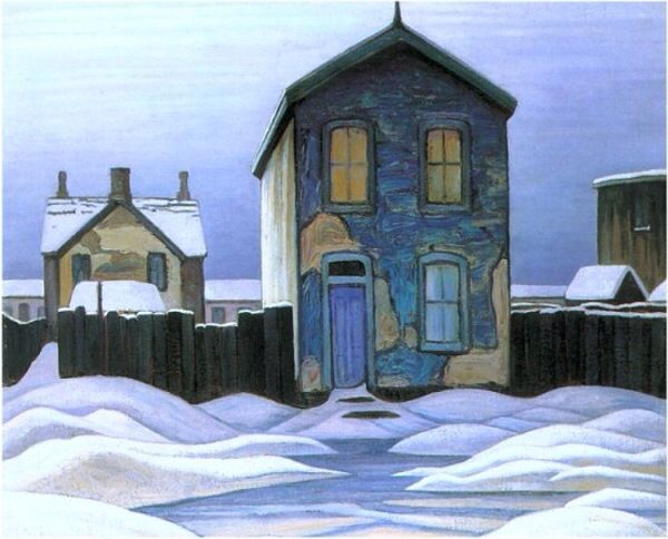 "Lawren S. Harris Canadian, Member of The Group of Seven 1885 - 1979 ""Grey Day…"