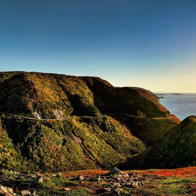 My latest release is titled Skyline Trail - Order 641 - photographed in Cape Breton Highlands National Park in Nova Scotia Canada - featuring the Appalachian Mountain range leading toward the setting sun over the Atlantic Ocean. Have you ever been to Cape Breton?  What did you think?