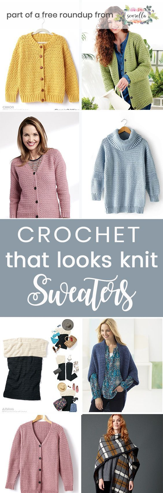 Crochet these easy free sweater patterns that look knit from my crochet that looks knit free pattern roundup!