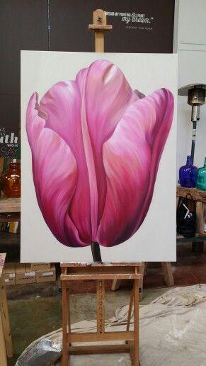 Tulip 120 cm x 90cm acrylic on canvas SOLD