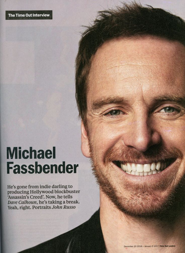 Michael Fassbender for 'Time Out London' magazine, December 2016-January 2017 -Photo by John Russo