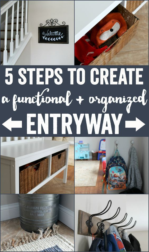 """5 Steps to Create a Functional + Organized Entryway. It's also kid-friendly! Check out the """"before"""" and """"after"""" photos! @WorldMarket [AD] @worldmarket"""