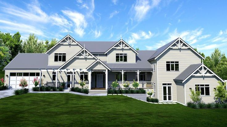 Mountain Homestead Picture of Traditional Storybook Split Level Design Sloping Site Manor Hamptons Grand Home Gables Farmhouse Country Manor House and two storey design traditional design sloping site design floor plans all 5 bedroom