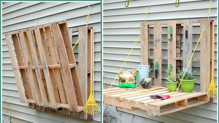 Support pour le jardin palettes de bois