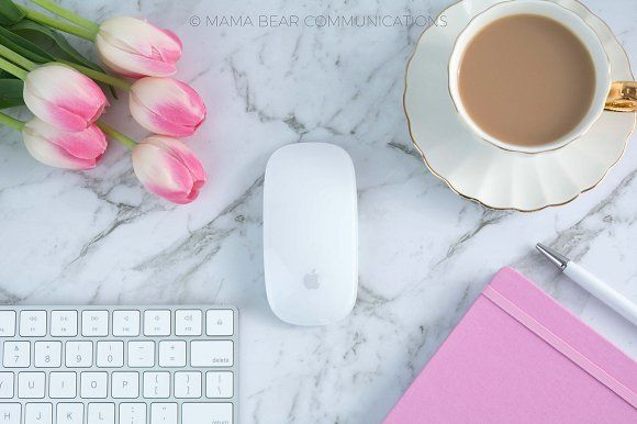 Styled Stock Photos | Feminine Desk by mamabearcomms on @creativemarket