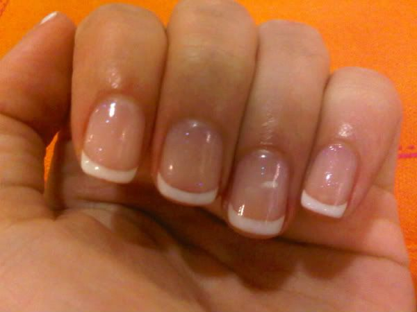 My ideal length/shape, gorgeous gelish french manicure! Mine as well ;-) !