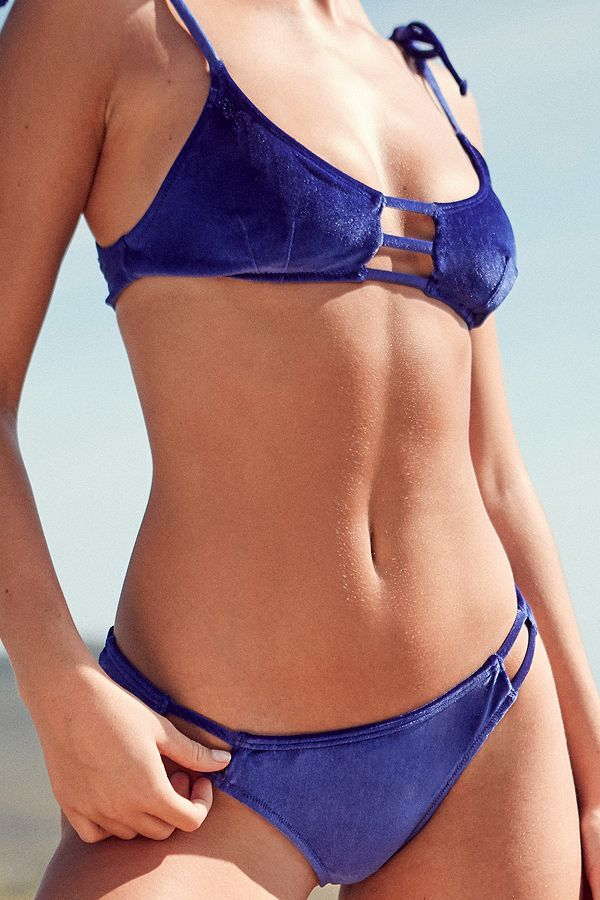 Slide View: 4: Out From Under Winnie Velvet Strappy Bikini Top