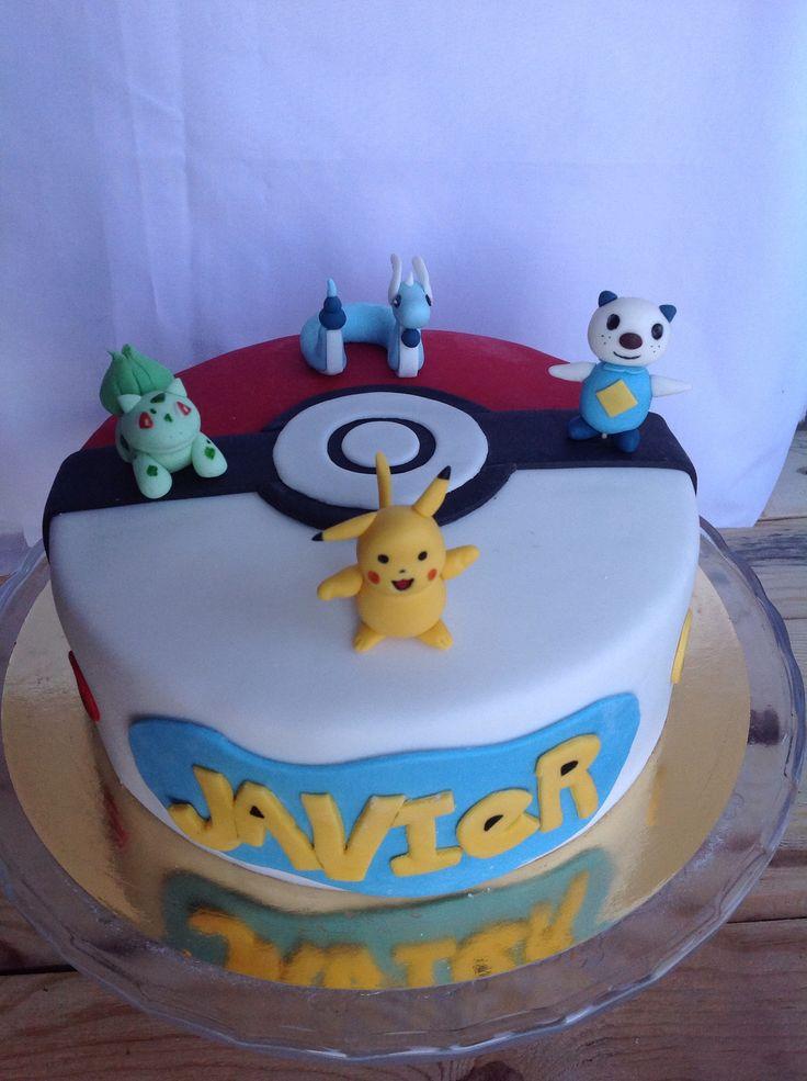 Pokemon fondant cake