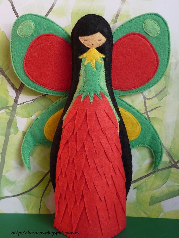 Felt fairy.  So pretty - I love her dress!