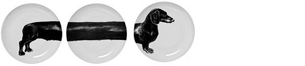 Sausage dog plates by Jimmie Martin