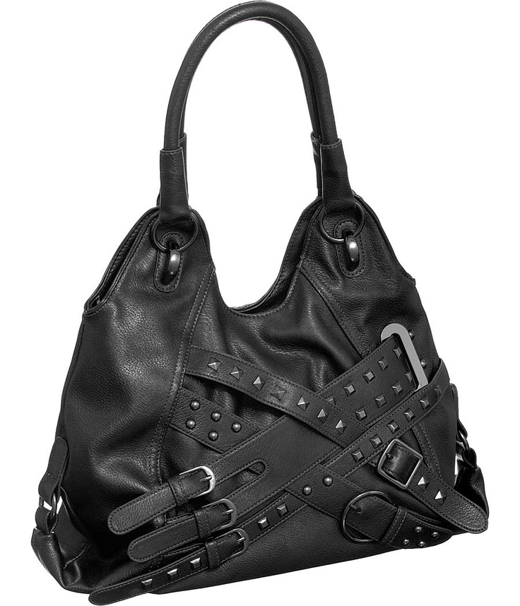 "Purse Boutique: Black Large ""Rebel Rocker"" Hobo Handbags, Purses"