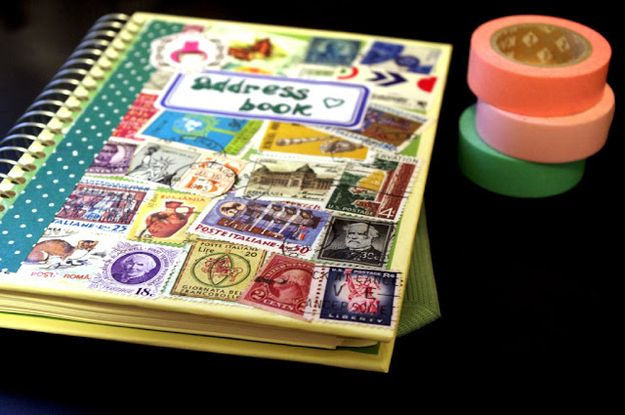Burner Tricks: Bring an address book and stamps. That way you have no excuse for not sending postcards. You can also easily get and store contact info from your new friends in this!