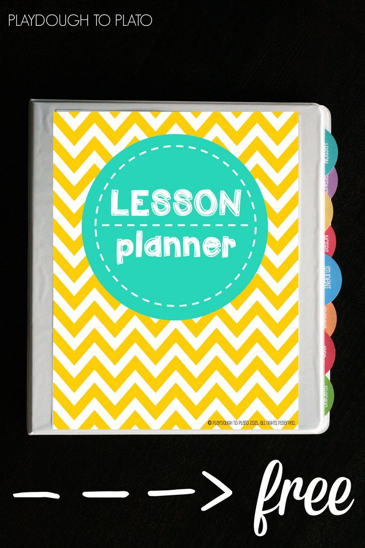 Awesome Free Lesson Plan Book