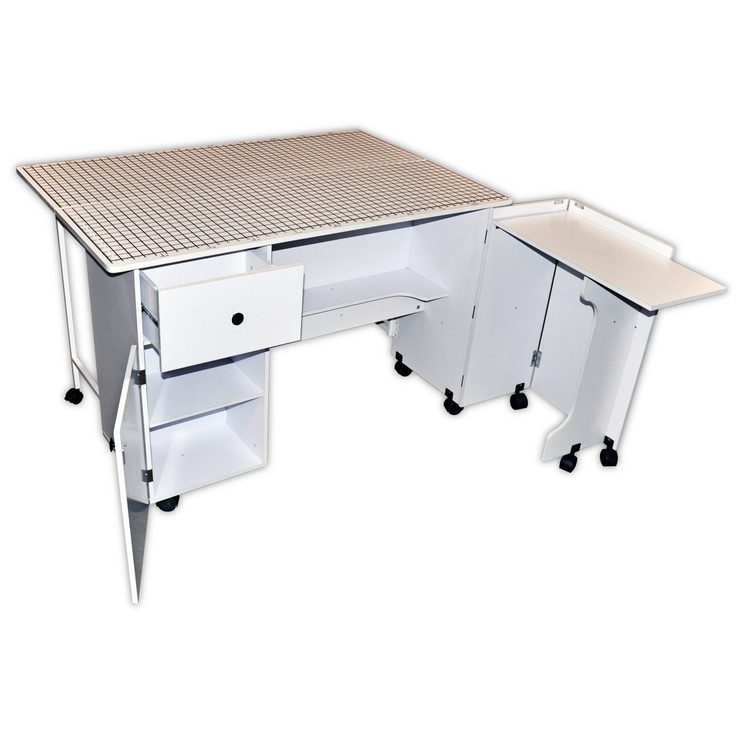 Sullivans quilters table craft tables and storage at sewing table shop sewing rooms spaces - Sewing table for small spaces design ...