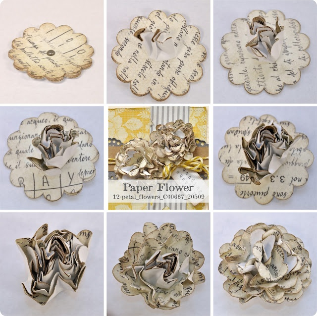 paper flower tutorialIdeas, Vintage Paper, Old Book Pages, Paperflowers, Paper Flower Tutorials, Diy Tutorials, Paper Flowers, Silhouette America, Card Sketches