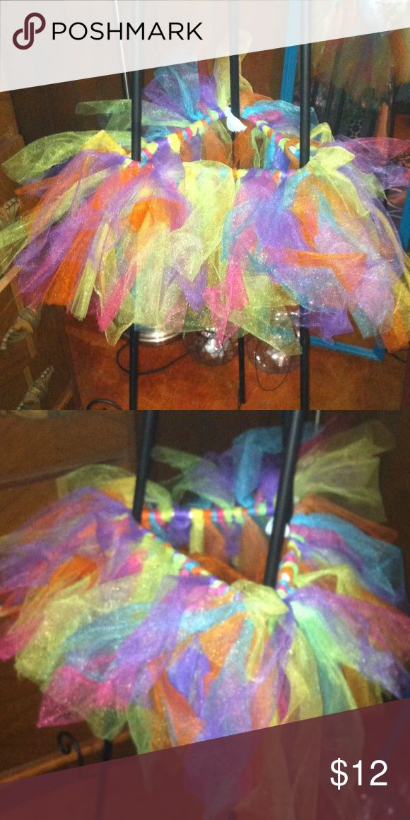 Colorful TuTu New never worn but got for a Color Run Elastic could be for x-small womens also Texas Boutique Bottoms Skirts