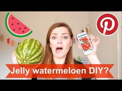 Gelatine watermeloen? | GirlwiththePin #2 - YouTube