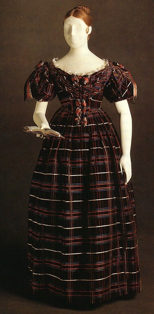 Plaid dress, 1835. Worn by Princess (later Queen) Victoria. May | 2015 | Atelier Nostalgia