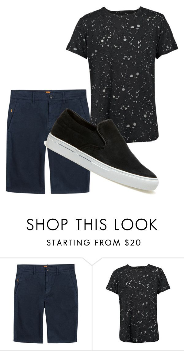 """""""#10"""" by iina3 ❤ liked on Polyvore featuring BOSS Orange, Boohoo, Lacoste, men's fashion and menswear"""