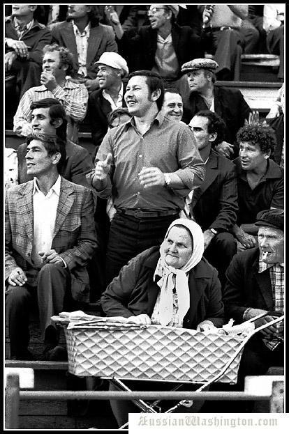 Soviet era. On the football. Russia