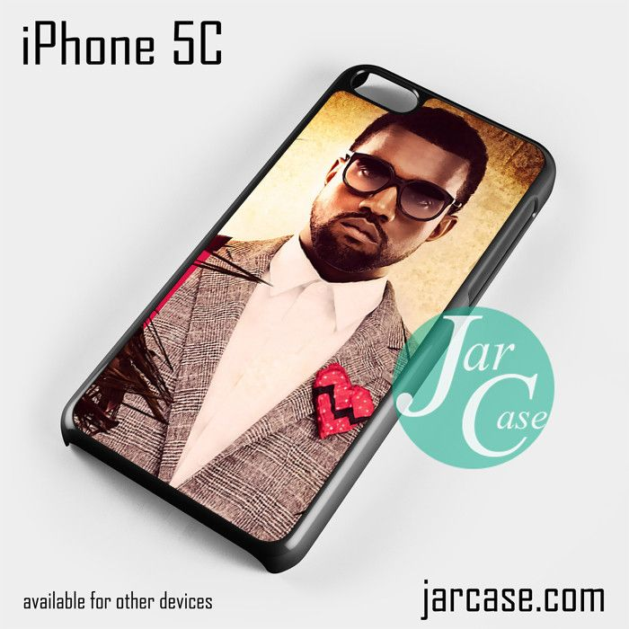 kanye west suit heart glasses Phone case for iPhone 5C and other iPhone devices