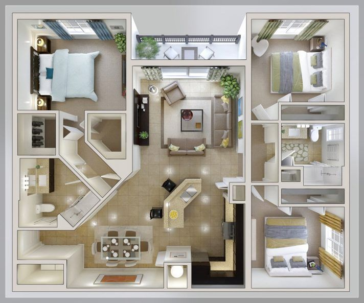 Bedroom Layout Ideas For Small Square Rooms Bedroom Setup Ideas 10 X 12 Master Bedroom Design Layout Id Three Bedroom House Plan House Layouts Sims House Plans