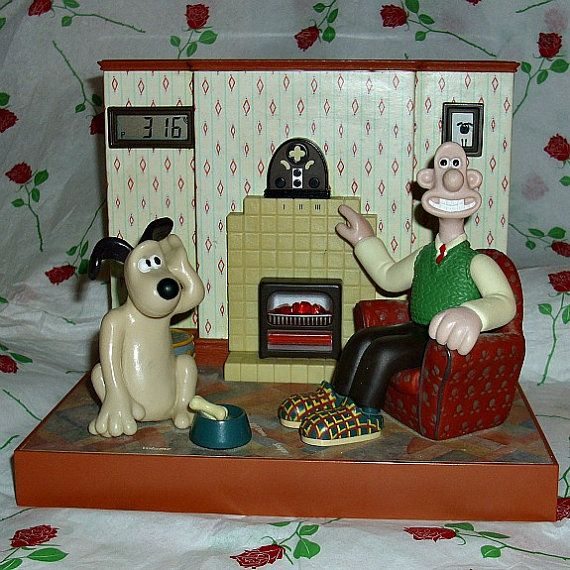 Wallace And Gromit Talking Radio Alarm Clock by WelshGoatVintage - SOLD OUT