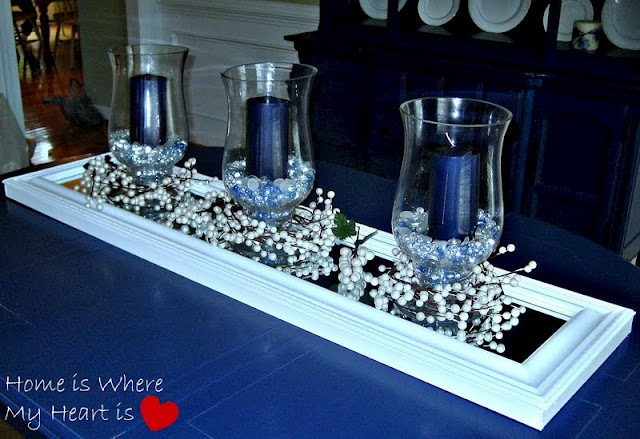 55 best images about dining room centerpieces on pinterest for Candle dining room centerpieces
