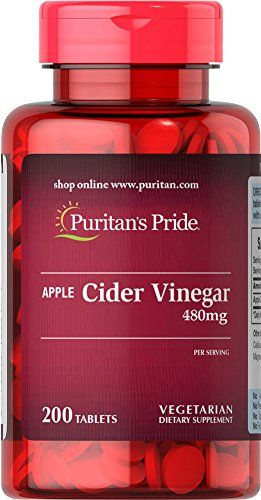 Puritans Pride Apple Cider Vinegar 480 mg200 Tablets -- Details can be found by clicking on the image.Note:It is affiliate link to Amazon.