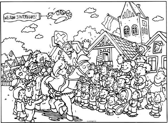 Afbeeldingen Kleurplaten Politie 17 Beste Afbeeldingen Over Sinterklaas Kleurplaten Op