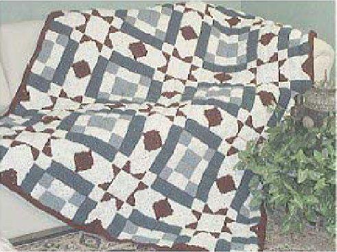 Happy Yellow House.com - Blackford's Beauty Crochet Quilt - by C. L. Halvorson  ~ free pattern