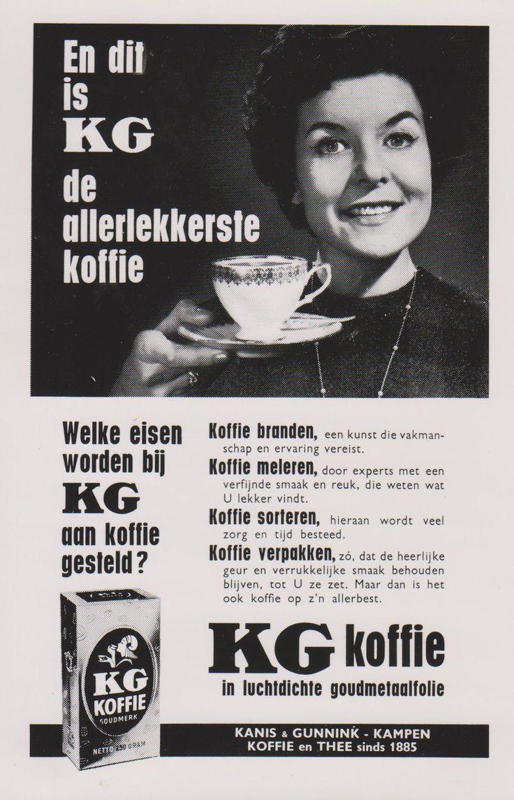 Kanis en Gunnink Koffie. Advertentie. Ontwerp Ger Dorant, Patz reclamestudio Amsterdam 1962