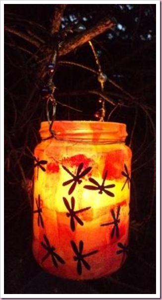 Decopatch Dragonfly Jar Lantern.