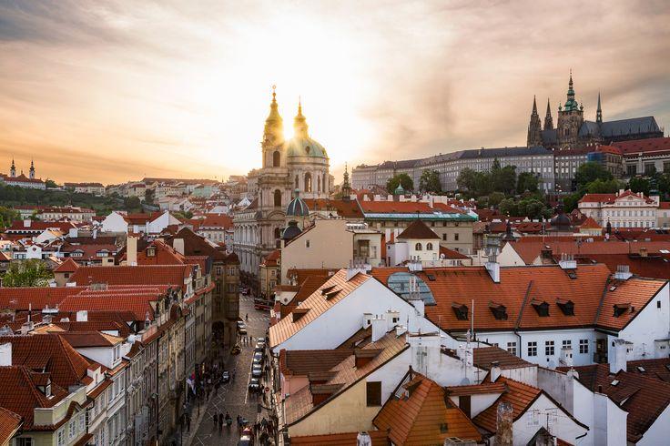 Old Town Glory - The Czech Republic, Prague. The sun setting through the spires of a Baroque church in Prague. Credits: Jonathan Reid