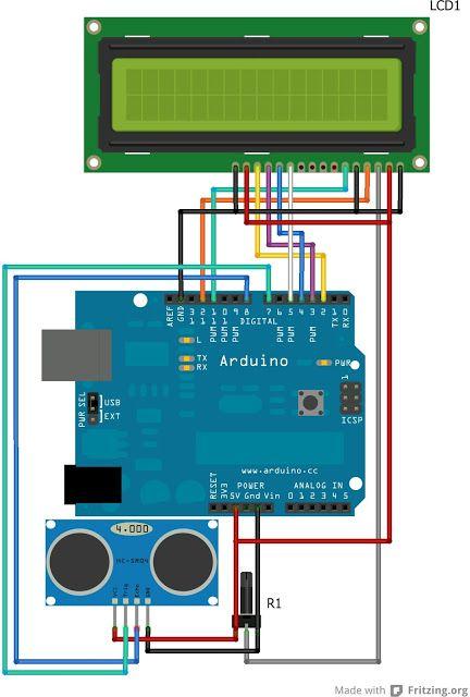 Daniele Alberti, Arduino 's blog: Arduino: leggere su display la distanza da un ogge...