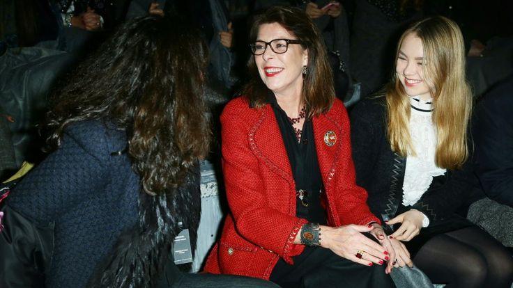 Prinzessin Caroline von Hannover und ihre Tochter Alexandra glänzten bei der Modenschau in Rom.