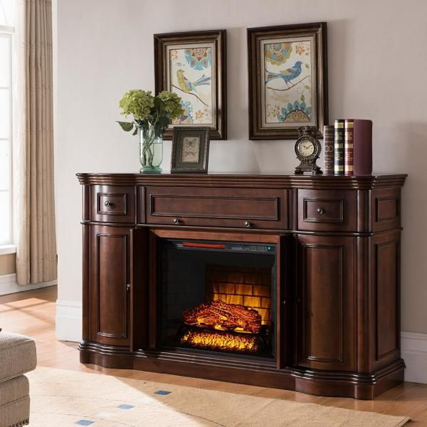 Bold Flame Vanderbilt 68 In Media Console Electric Fireplace Tv